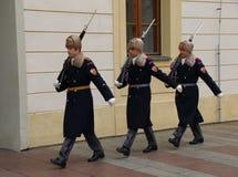 Mudança do protetor no castelo de Praga Fotos de Stock Royalty Free