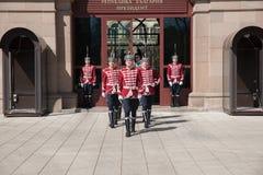 Mudança dos protetores no escritório do presidente de Bulgária Fotos de Stock Royalty Free