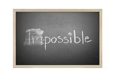 Mudança impossível em possível em um quadro Imagem de Stock Royalty Free