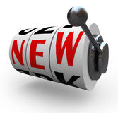 Mudança nova da inovação das rodas do slot machine da palavra Foto de Stock Royalty Free