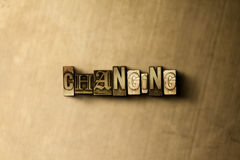 MUDANÇA - o close-up do vintage sujo typeset a palavra no contexto do metal Imagens de Stock Royalty Free
