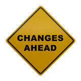 Mudanças adiante foto de stock