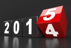 Mudanças do ano 2014 a 2015 ilustração stock