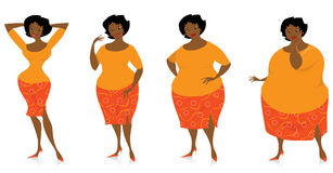 Mudanças do tamanho após a dieta Foto de Stock