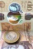 Mudan?a inglesa do moneycash e recibo de compra fotografia de stock royalty free