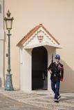 Mudança da cerimônia dos protetores em Mônaco Foto de Stock