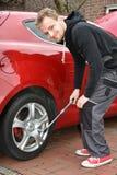 Mudança do pneu Imagem de Stock