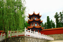 Mudanjiang Yuantong Temple-Founder Tower for cutti. Mudanjiang Yuantong Temple is located at the foot of Jinlong Mountain of Mudanjiang city . it was founded in Stock Image