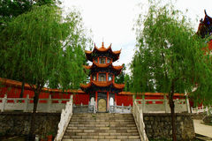 Mudanjiang Yuantong Temple-Founder Tower for cutti. Mudanjiang Yuantong Temple is located at the foot of Jinlong Mountain of Mudanjiang city . it was founded in Stock Photo