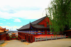 Mudanjiang Yuantong Temple. Is located at the foot of Jinlong Mountain of Mudanjiang city . it was founded in May 5 , 1996 which is the largest Guanyin  dojo of Stock Images