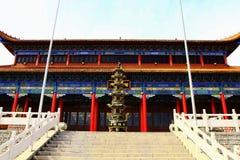 Mudanjiang Yuantong Temple_-Yuantong   Pagoda. Mudanjiang Yuantong Temple is located at the foot of Jinlong Mountain of Mudanjiang city . it was founded in May 5 Stock Photography