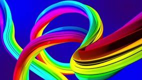 Mudanza colorida de líneas abstractas Fondo para una tarjeta de la invitación o una enhorabuena libre illustration