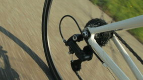 Mudanza de los engranajes de la bicicleta metrajes
