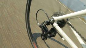 Mudanza de los engranajes de la bicicleta almacen de video