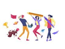 Mudanza de Team People Invitaci?n y partido corporativo, cursos del negocio de aprendizaje del dise?o, sobre nosotros, equipo de  ilustración del vector