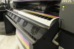Mudanza digital de la cabeza de impresión del formato grande Foto de archivo