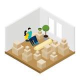 Mudanza en el ejemplo stock de ilustración