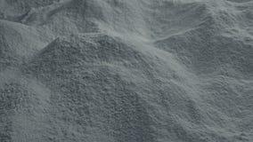 Mudanza sobre polvo del cemento almacen de video