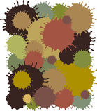 MudBlots camouflage. Vector illustration of mud blots on white background Royalty Free Stock Images