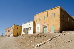 Mudbrickhuizen in Qurnet Murei, Luxor Royalty-vrije Stock Foto