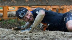 Mudder duro 2015: Bacio di fango Fotografia Stock Libera da Diritti