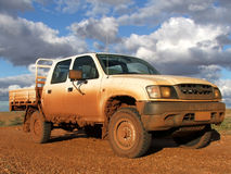 Muddy 4WD. In Sturt National Park in Outback Australia Stock Photo