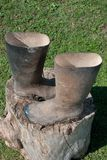 Muddy boots Royalty Free Stock Image