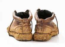Muddy boots Royalty Free Stock Photography