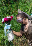 Muddy bride Stock Photography