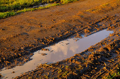 Muddy Countryside Stock Photo
