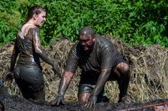 Muddy couple Royalty Free Stock Image