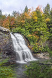 Muddy Creek Falls. Maryland`s highest free-falling waterfall, the 53-foot 16 m Muddy Creek Falls, is found just upstream from the creek`s confluence with the stock photography
