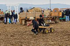 Muddy Day à la vente aux enchères du comté de Lancaster Photographie stock