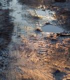 Muddy dirty road Royalty Free Stock Image