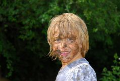 Muddy Face 3 Royalty Free Stock Photos