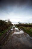 Muddy farm track Royalty Free Stock Photography
