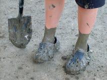 Muddy feet Royalty Free Stock Image