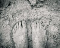 Muddy feet. Royalty Free Stock Photo
