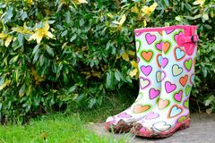 Muddy funky wellingtons Royalty Free Stock Photography