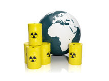 Muddy ground nuclear waste Royalty Free Stock Images