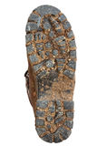 Muddy Hiking Boot Sole Royalty Free Stock Photos