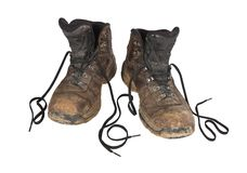 Free Muddy Hiking Boots Stock Photography - 18583772