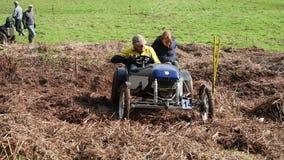Muddy Hill Climb Cars stock footage