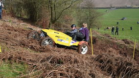 Muddy Hill Climb Competition stock video