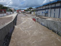Muddy Huacapa River Stock Image