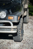 Muddy jeep. Waiting for the next discovery Royalty Free Stock Photo