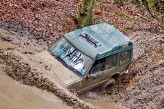 Muddy Land Rover Stock Photography