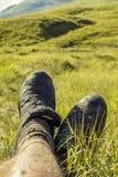 Muddy legs in green environment 2 Royalty Free Stock Photos