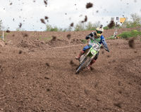 Muddy Motocross Race Stock Images
