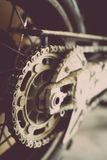 Muddy motorcycle chain Stock Photos